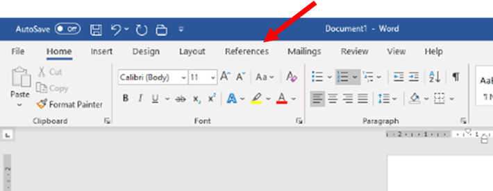 The References Toolbar