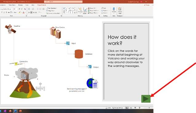 Insert Button to create an interactive presentation.